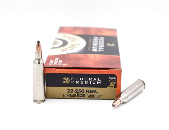 federal premium 22 250 remington vital shok ammo 20 rounds 60gr