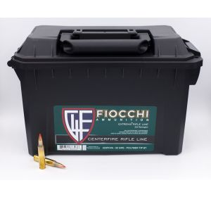Fiocchi Extrema Rifle 223 Remington Polymer Tip Boat Tail 50 Grain 200 Round Ammo Can
