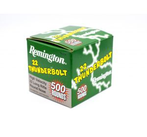 Remington 22 Thunderbolt 22 Long Rifle 40gr Round Nose 500 Rounds