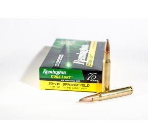 Remington 30-06 ammo 165 grain Core-Lokt PSP-20 rounds