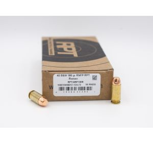 RPT Reman 40 S&W RNFP Round Nose Flat Point 180 Grain 50 Rounds