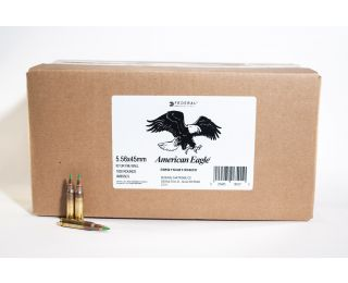 Bulk Federal 5.56 x 45 ammo American Eagle 62 grain FMJ Ball-1000 rounds