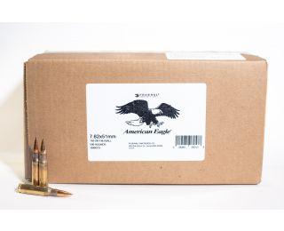 Federal 7.62 x 51 bulk ammo American Eagle 149 grain FMJ Ball 500 rounds
