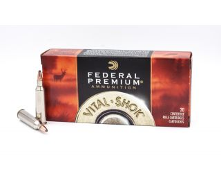 Federal Premium Vital-Shok 22-250 Remington Nosler Partition-Jacketed Soft Point 60 Grain 20 Rounds