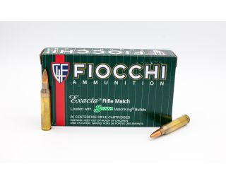 Fiocchi Exacta Rifle Match 223 Rem 77gr 20 Rounds