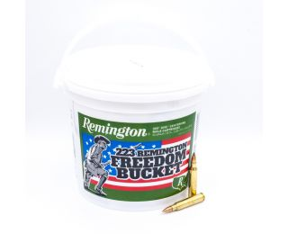 Remington UMC Freedom Bucket 223 Rem 55 Gr. Metal Case - Full Metal Jacket 300 Bulk Ammo Rounds