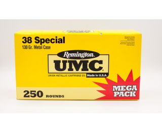 Remington UMC 38 Special 130gr 250 Rounds