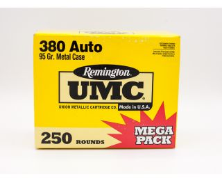 Remington UMC 380 Auto 95gr 250 Rounds