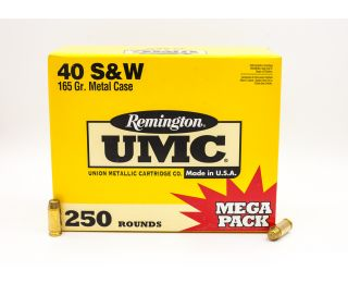 Remington UMC 40 S&W 165gr 250 Rounds