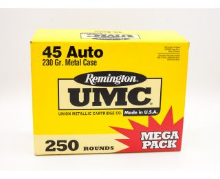 Remington UMC 45 Auto 230gr 250 Rounds
