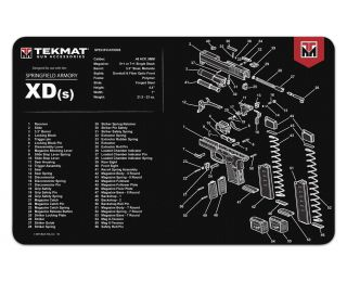 TekMat Springfield XD(m) rubber cleaning mat
