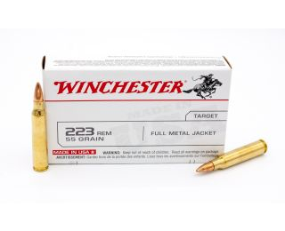 Winchester Target 223 Rem 55gr 20 Rounds