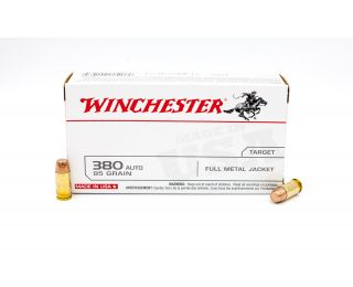 Winchester Target 380 Auto 95gr 50 Rounds