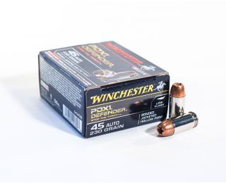 Winchester .45 Auto ammo Elite PDX1 Defender 230 grain Bonded Jacketed HP 20 rounds