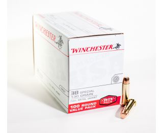 Winchester Target 38 Special 130 gr FMJ 100 Round Value Pack
